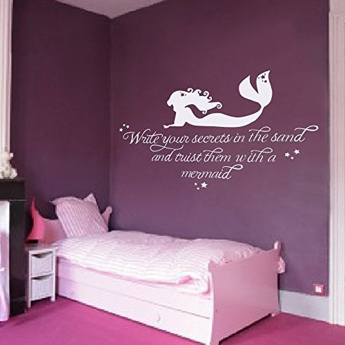 Cheap  Wall Decal Decor Girls Room Wall Decal Mermaid Wall Sticker Write your..