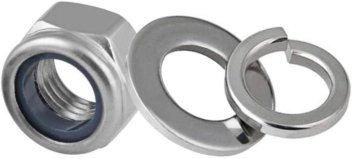 Nylon Insert Lock Nuts,Lock Washers,Flat Washers Set Abimars M10 Male Thread Machinery Shoulder Lifting Ring Eye Bolt