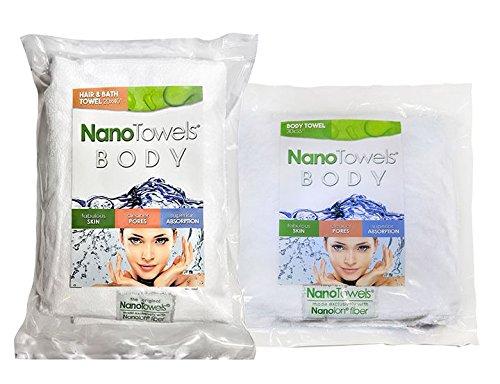 The Nano Lines Body Bath   Shower Towel   1 Body Nano  20  X 40      2 Full Body Nano  30  X 55   Huge   Super Absorbent  Wipes Away Dirt  Oil And Cosmetics