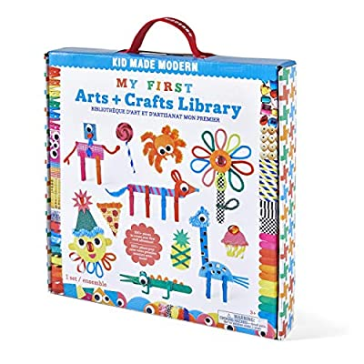 Kid Made Modern My First Arts and Crafts Library - Craft Kit to Help Developing Fine Motor Skills: Toys & Games