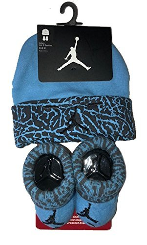 Nike Air Jordan Elephant Print Hat & Booties Set 0-6 Months