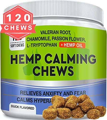 GOODGROWLIES-Calming-Hemp-Treats-for-Dogs-Made-in-USA-with-Hemp-Oil-Anxiety-Relief-Separation-Aid-Stress-Relief-During-Fireworks-Storms-Thunder-Aggressive-Behavior-Barking-120-Chews