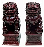 Temple Lions Foo Dogs Asian Art Chinese Feng Shui Statue