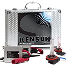 Kensun HID Xenon Conversion Kit All Bulb Sizes and Colors with Slim Digital Ballasts - H11 - 6000k - 2 Year Warranty by Kensun