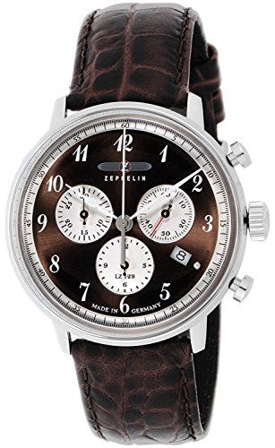 ZEPPELIN Watches LZ129 Hindenburg Brown dial Date 70,865 Men's [regular imported goods]