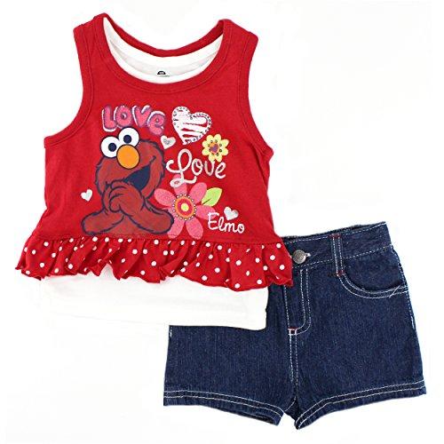 Sesame Street Girls Shorts Toddler