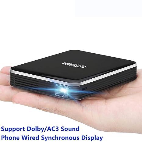 DZSF P6 Smart Phone Mini Proyector con batería, con Cable en la ...