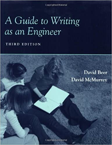 A guide to writing as an engineer david f beer david a mcmurrey a guide to writing as an engineer david f beer david a mcmurrey 9780470417010 amazon books fandeluxe Gallery