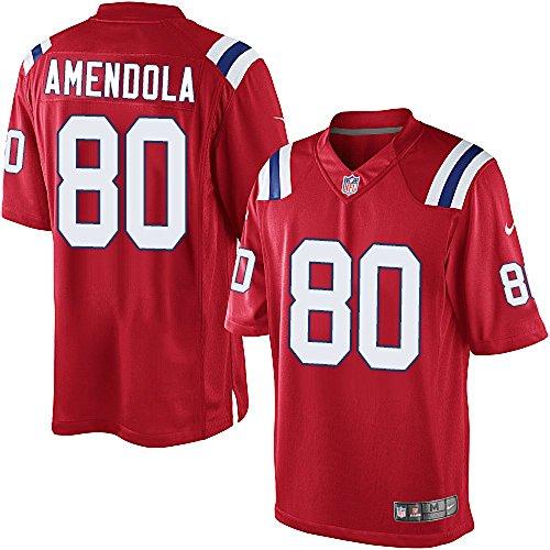 NIKE Danny Amendola New England Patriots NFL Youth Red Alternate on-Field Jersey (Youth Medium 10-12)