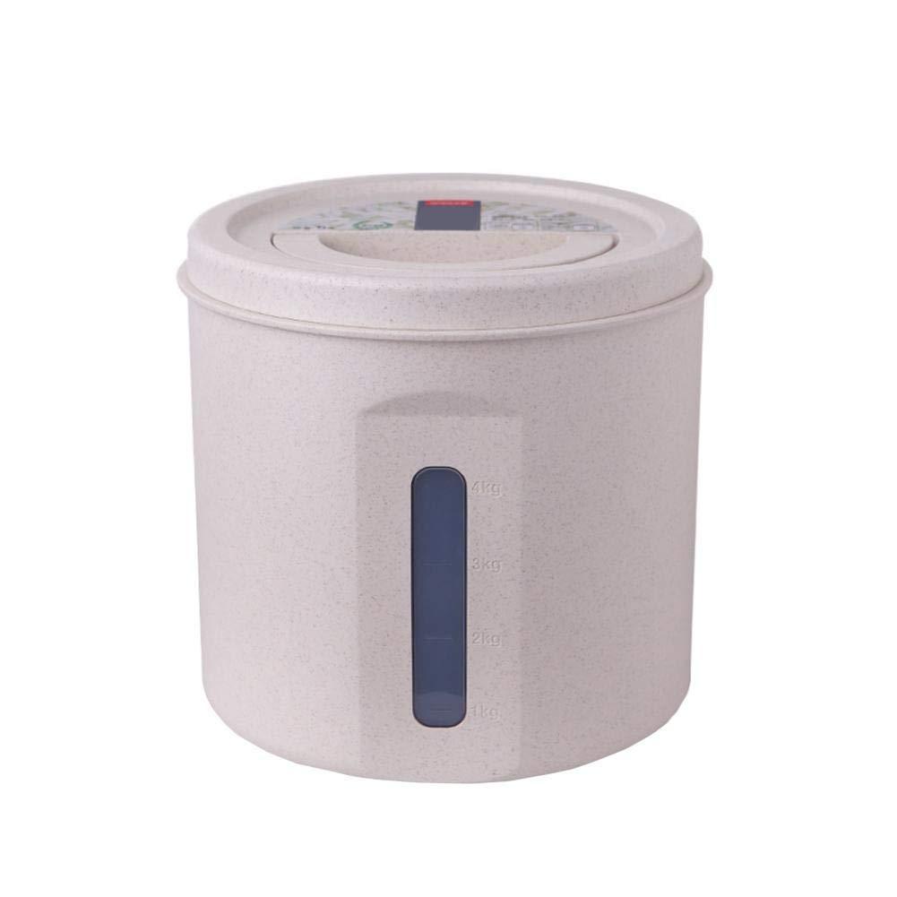 Anti-Humidit/é Scell/é /Étanche Funihut Bo/îte de Stockage Riz Bo/îte pour C/ér/éales Bouteilles de Stockage de Nourriture Conteneurs de c/ér/éales en Plastique Transparent 5Kg//20 Kg