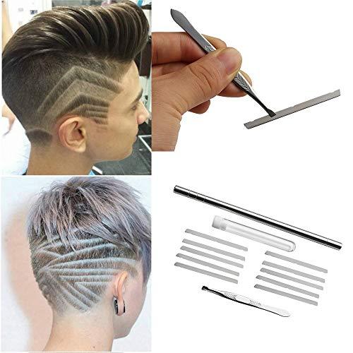 FelixStore 1 Set Professional Hair Styling Salon Engraved Pen& 10 Blades Stainless Steel Beards Razor Pen DIY Hair Styling Engraved Tools from FelixStore