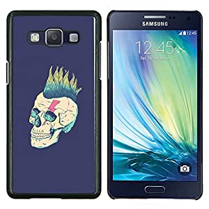 LECELL--Funda protectora / Cubierta / Piel For Samsung Galaxy A5 A5000 -- Punk Purple Vignette Rock Metal --