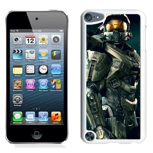 Customized$Unique Ipod Touch 5 Case Design with Halo 4 White Phone Case for Ipod Touch 5 5th Generation