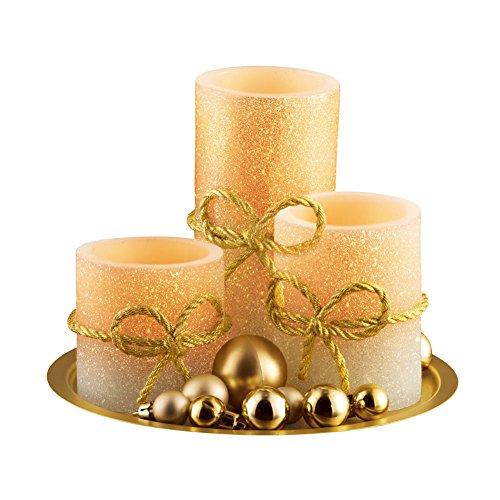 Led Gold Flameless Candlescape Centerpiece Wedding Party Home Decor