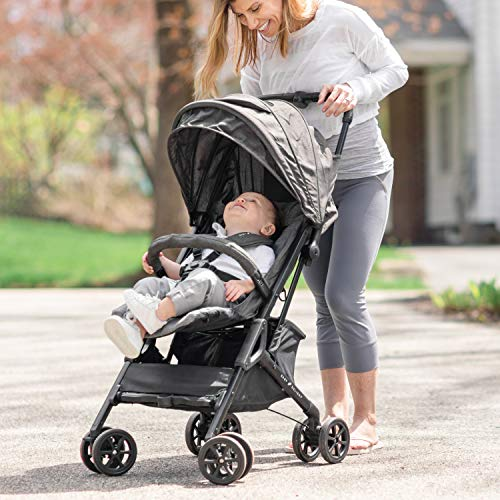 Baby Delight Go with Me Dart Ultra-Compact Stroller, Charcoal Tweed