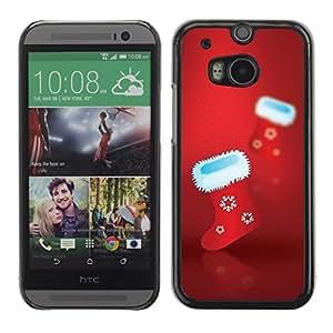 YOYO Slim PC / Aluminium Case Cover Armor Shell Portection //Christmas Holiday Socks 1063 //HTC One M8