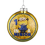 Kurt Adler 1 in a Minion Ornament with Decal, 80mm