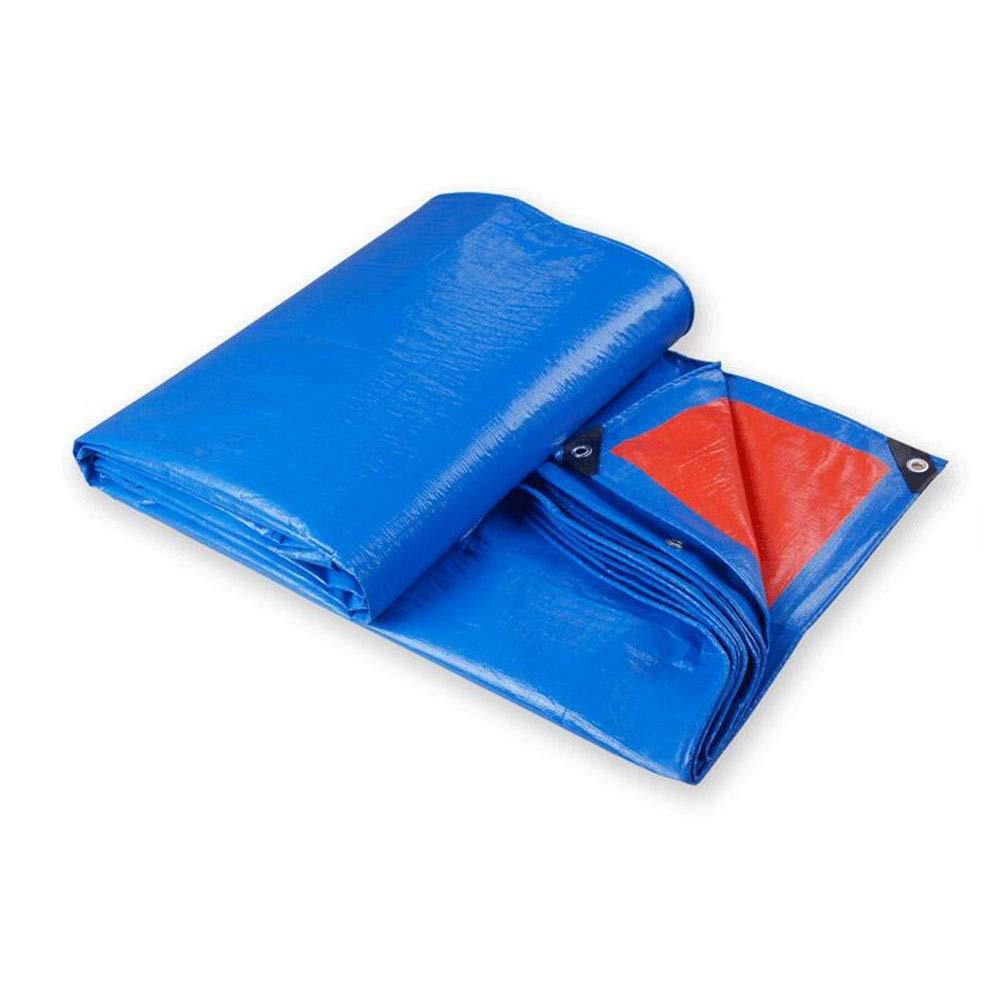 XUERUI シェルター タープ 防水 強化された リップストップ グロメットと にとって ターポリン キャノピーテント、 ボート、 プールカバー 多目的 スポーツ アウトドア (Color : 青, Size : 6x8m) 青 6x8m
