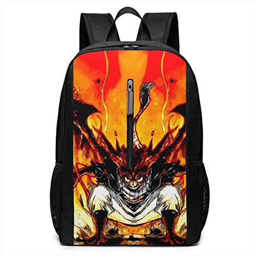 Fairy Tail Backpack 17 Inch Adult Laptop Backpacks Black