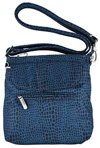 Travelon Anti-Theft Classic Mini Shoulder Bag (Blue Snake)
