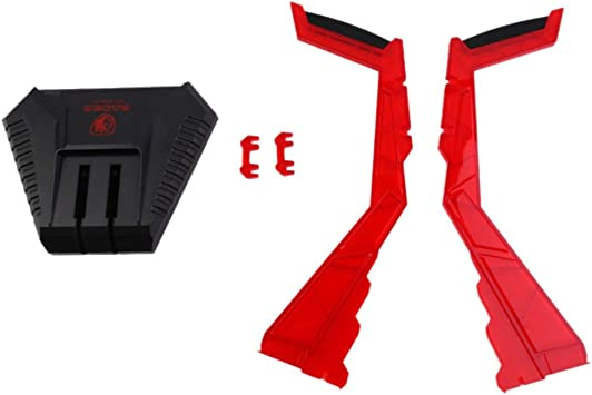 gamer suport casque rouge