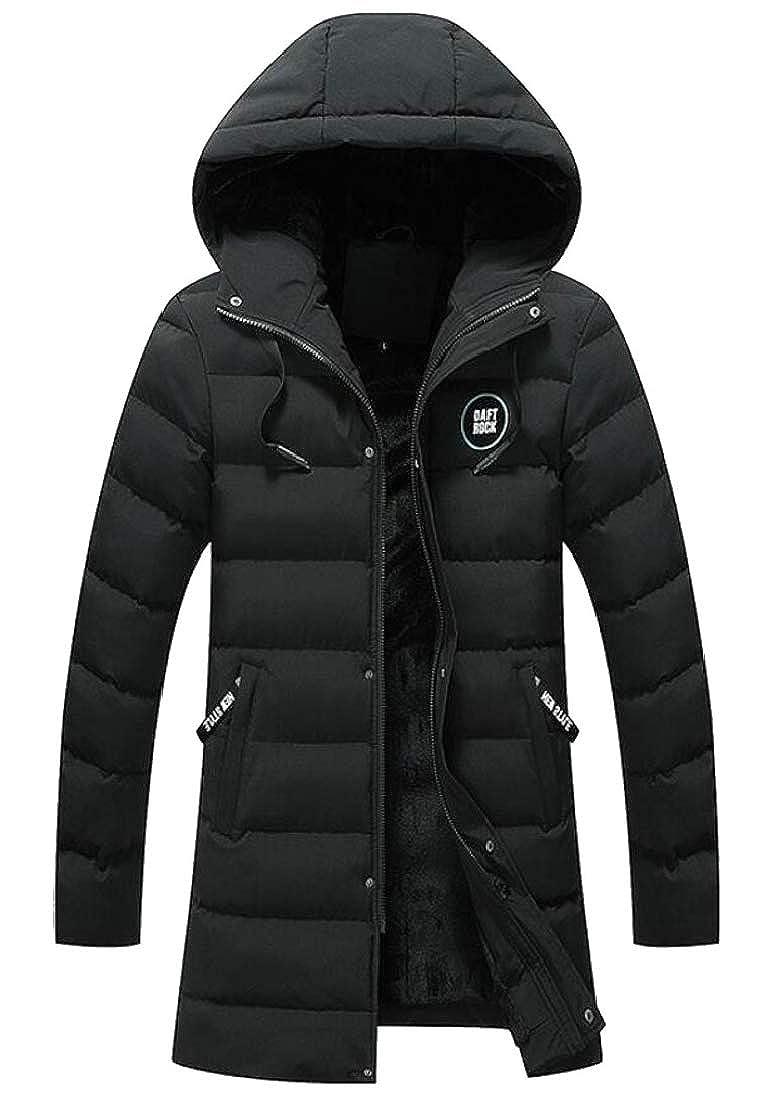 Qiangjinjiu Mens Hooded Puffer Down Jacket Outwear Packable Insulated Light Weight Coats