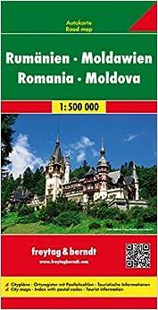 RomaniaMoldova Road Maps FreytagBerndt und Artaria
