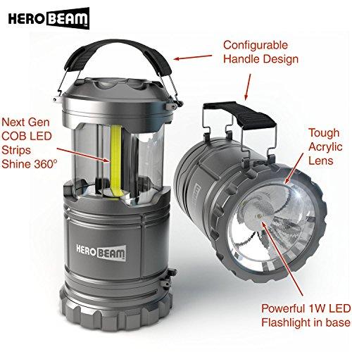Super Bright 8 Led Work Light Torch Car Garage Flashlight: HeroBeam LED Lantern V2.0 With Flashlight
