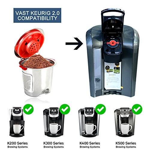 Coffee Makers Compatible With Keurig : Premium Stainless Steel Reusable K Cups,Refillable Coffee Filter Compatible With Keurig Brewers ...