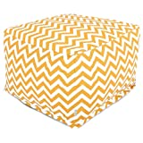 Majestic Home Goods Yellow Zig Zag Ottoman, Large