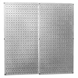 WALMP Wall Control 30-P-3232GV Galvanized Steel Pegboard Pack