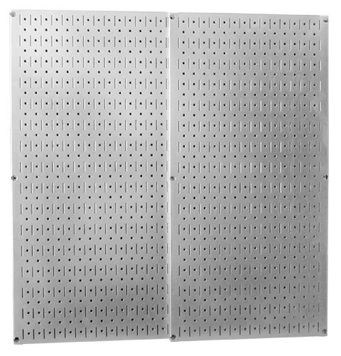 Wood Workshop Outdoor Garden - Wall Control 30-P-3232GV Galvanized Steel Pegboard Pack