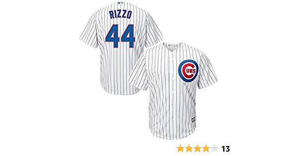 Majestic Anthony Rizzo Chicago Cubs MLB Kids White Home Cool Base Replica Jersey