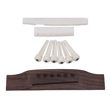 Gitarren Sattel Steg Saitenhalter für 6 Saiten E-Gitarre Teile Silber