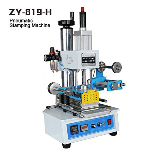 Huanyu InstrumentZY-819H Automatic hot foil stamping machine Leather logo creasing machine Pressure words machine Name card stamping machine(height:0-150mm stamping area:116120mm) by Huanyu Instrument