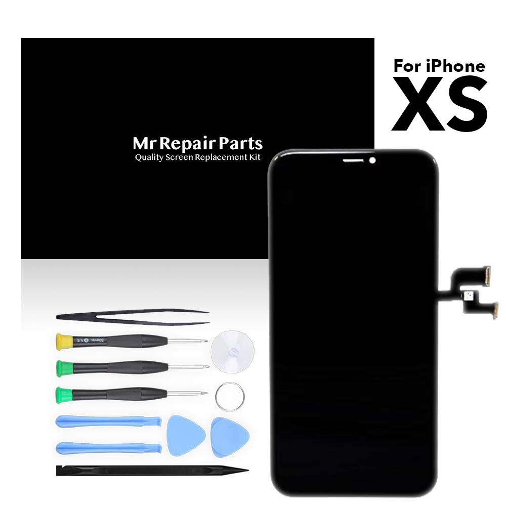 for iPhone Xs 5.8'' OLED LCD Screen Replacement Display Touch Digitizer Assembly + Repair Tools, Compatible with Model A1920, A2097, A2098, A2100