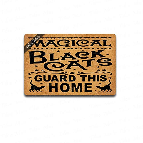 Magical Witch - Cindy&Anne Primitive Witch Sign Magical Black Cats Guard This Home (23.6