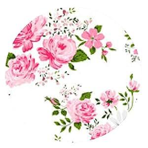 alfombrilla de ratón sin patrón, con rosas de color rosa y manzanilla. - ronda - 20cm