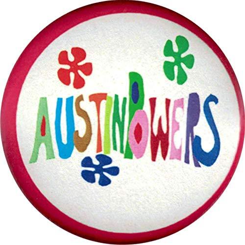 Austin Powers - Logo with Flowers - 1.25