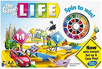 El Juego de la Vida clásico juego de mesa de Hasbro Gaming: Amazon.es: Juguetes y juegos