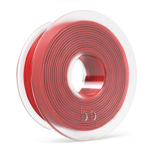 BQ – Filamento PLA de diámetro 1.75 mm, 300 g, color Ruby Red