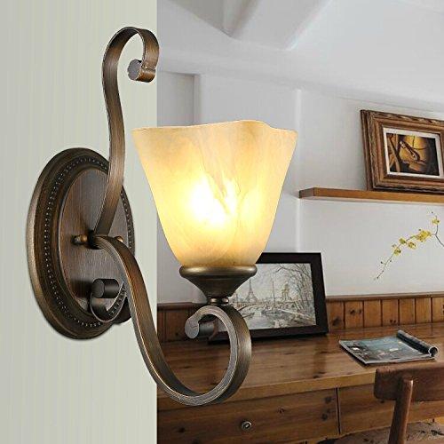 NEYWM Amerikanische Kunst Dorf Wohnzimmer Wall Wandleuchte Wandlampe Eisen Beleuchtung Wandleuchte Wand am Bett Beleuchtung 30  30cm