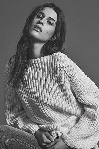 SELECTED FEMME Pull à manches longues en tricot à manches longues SFASTE pour femmes en blanc (M)