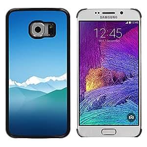 TopCaseStore / la caja del caucho duro de la cubierta de protección de la piel - Blue Ice Mountains Sky Nature Winter Alps - Samsung Galaxy S6 EDGE SM-G925