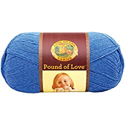 Lion Brand Yarn 550-110B Pound of Love Yarn, One Size, Denim