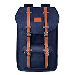 Travel Laptop Backpack, PRASACCO Outdoor Hiking Dayback Water Resistant Anti Theft 17inch Business Computer Bag, College School Backpack for Men Women, Blue