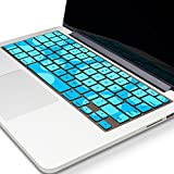 "Kuzy - Circles Hot Teal/Aqua Keyboard Cover Silicone Skin for MacBook Pro 13"" 15"" 17"" (w/ or w/out Retina Display) iMac and MacBook Air 13"" Teal/Aqua"