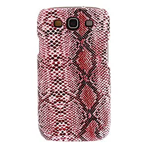 DUR Sound Hung Series High-End Snakeskin Grain Hard Case for Samsung Galaxy S3 I9300(Assorted Colors) , Red