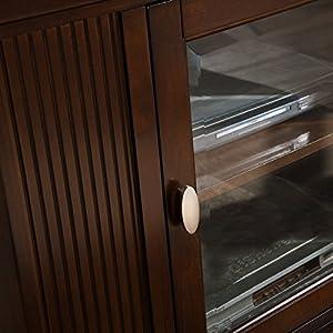"Leick Home Riley Holliday 46"" Corner TV Stand, Chocolate Cherry Finish"