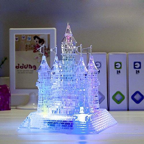 Amazon Waycom 3d Crystal Castle Puzzle 3d Jigsaw Light Up